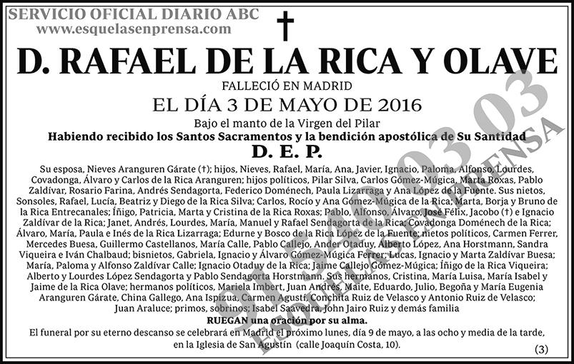 Rafael de la Rica y Olave